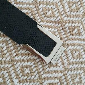 Black Snake Skin MK Front Clasp Belt